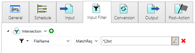 channel input filter